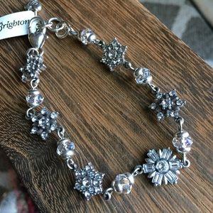 Brighton silver rhinestone snowflake bracelet new